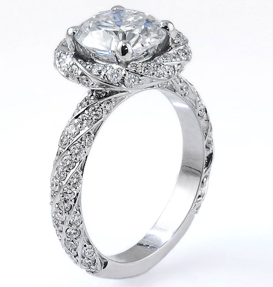 Tom Mathis Designs 2.10CT Diamond Engagement Ring