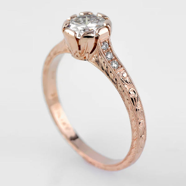 Tom Mathis Designs Rose Gold 0.53CT Diamond Engagement Ring