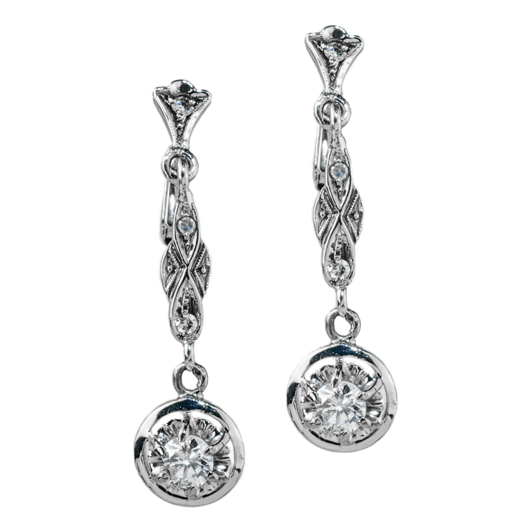 Estate Collection Art Deco Diamond Earrings