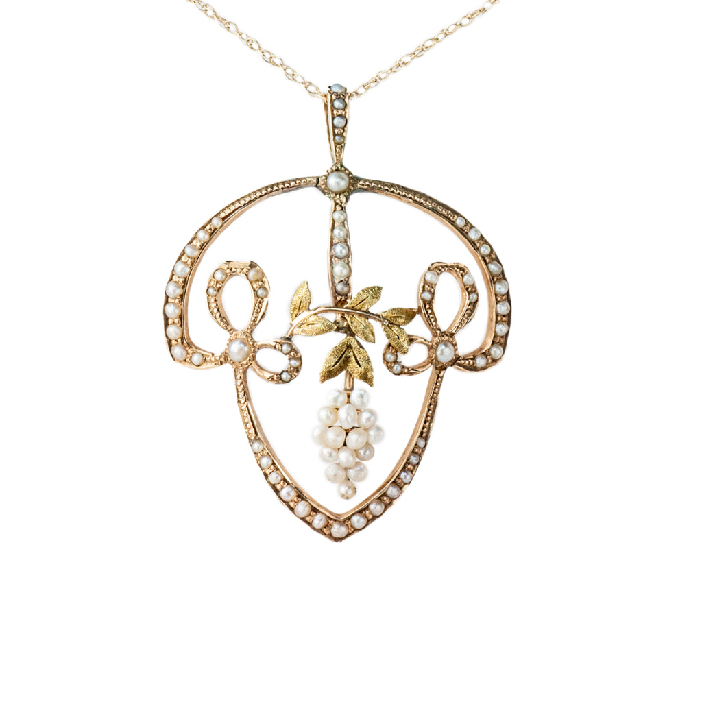 Estate Collection Antique Seed Pearl Pendant
