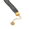 Mysterium Collection Black and Gold Crochet Bracelet