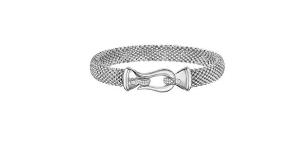 Phillip Gavriel Collection Sterling Silver Mesh Bracelet with Diamonds