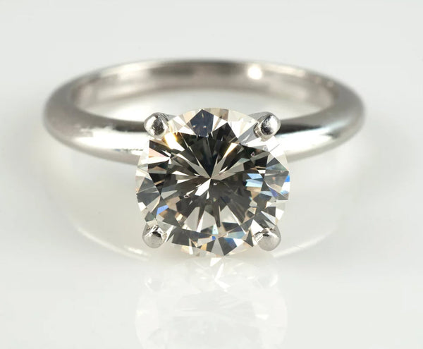 Tiffany & Co. Platinum 2.21CT Diamond Solitaire Ring