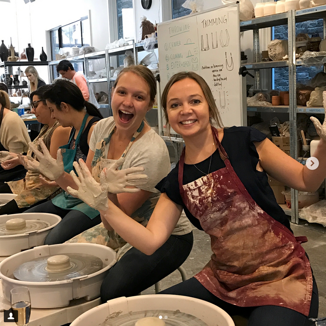$69/Person: Get Muddy! Wheelthrowing Pottery Class - 1 Hr Team Building Event