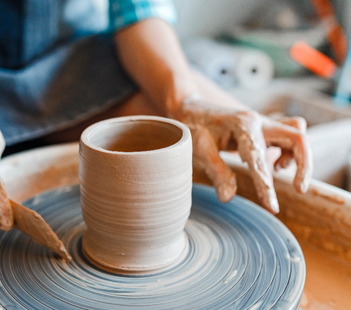 October 1-time Pottery Wheelthrowing & Handbuilding Class