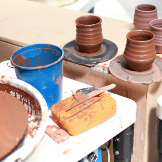 SOLD OUT! - Intro to Pottery Wheel Classes: Jan.-Feb. 6-week online (w/ Open Studio Hours)