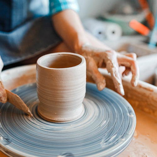 June 1-Time Pottery Wheelthrowing and Handbuilding Class