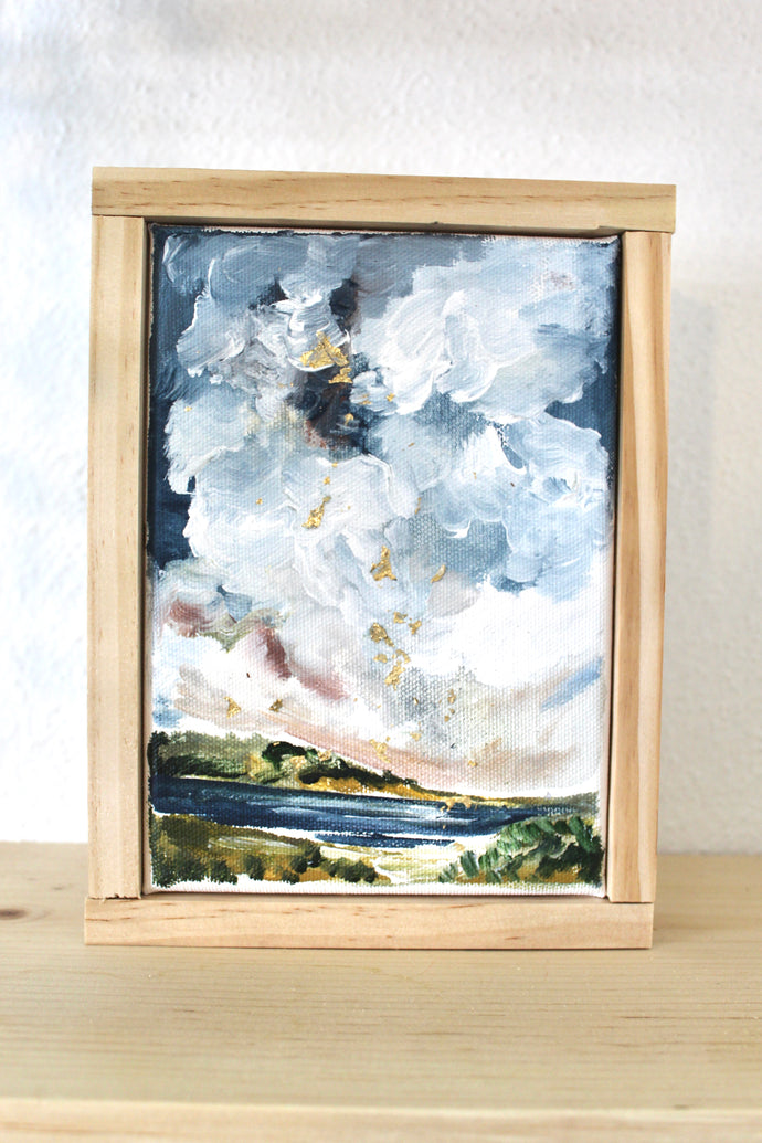 Saylor- 5x7 Framed Original Landscape Painting on Canvas