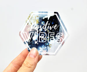 Positive Vibes Weatherproof/Durable Vinyl Sticker Decal