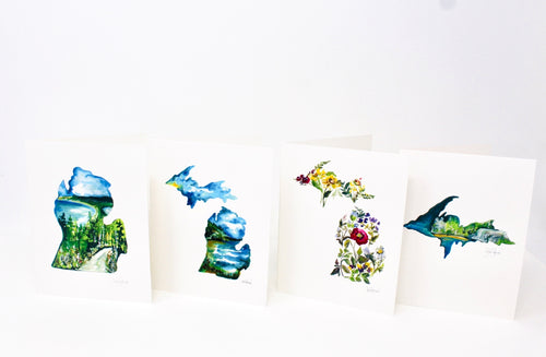 The Michigander Greeting Card Collection- 4 Pack