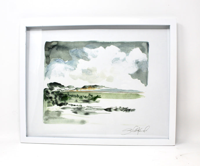Simple Landscape Watercolor- 11x14 Print, Home Decor, Wall Art