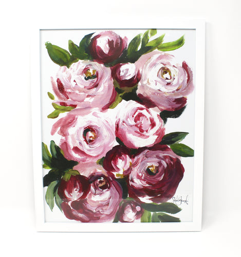 Peonies Art Print! 11x14in, Acrylic Painting Print, Wall Art, Home Decor, Peony Art