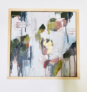 Ryann- 16x16 Framed Original Abstract Painting on Canvas