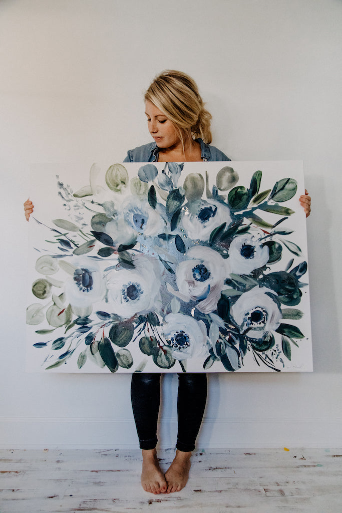 Oliver- 30x40 Original Floral Painting on Deep Set Canvas
