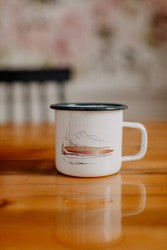 12 oz Steel Mountain Landscape Art Mug