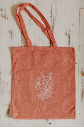 Simple Floral Recycled Cotton Twill Tote