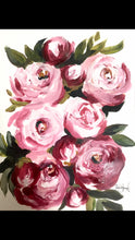 Load image into Gallery viewer, Peonies Art Print! 11x14in, Acrylic Painting Print, Wall Art, Home Decor, Peony Art
