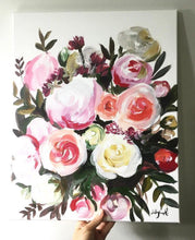 Load image into Gallery viewer, Custom Bridal Bouquet Painting, 11x14, Custom Art, Home Decor, Wedding Gift, Floral Art