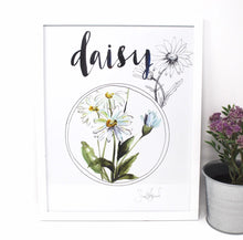 Load image into Gallery viewer, Daisy Art Print, 11x14in, Simple Design, Wall Art, Home Decor, Floral Artwork