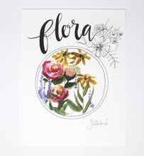 Load image into Gallery viewer, Flora Art Print 11x14! Flower Art, Simple Design, Home Decor, Wall Art