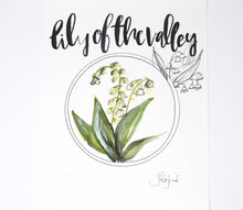 Load image into Gallery viewer, Lily Of The Valley Art Print- 11x14in, Simple Design, Floral Artwork, Home Decor, Wall Art