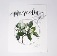 Load image into Gallery viewer, Magnolia Art Print 11x14, Home Decor, Wall Artwork, Simple Design