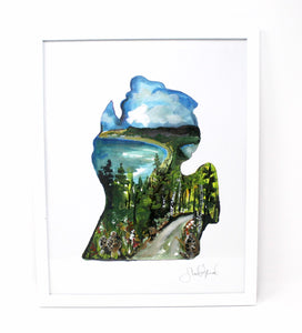 Morel Mushroom Michigan Art Print 11x14in, Wall Decor, Michigan Artwork