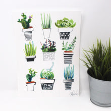Load image into Gallery viewer, Succulents Art Print 8x10 in, Plant Art, Home Decor, Wall Art