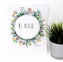 Load image into Gallery viewer, Be Kind Art Print, 8x10, Simple Art, Quote Art, Home Decor, Nursery Art