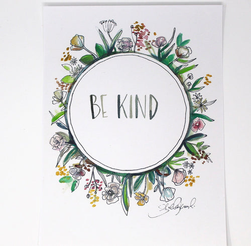 Be Kind Art Print, 8x10, Simple Art, Quote Art, Home Decor, Nursery Art