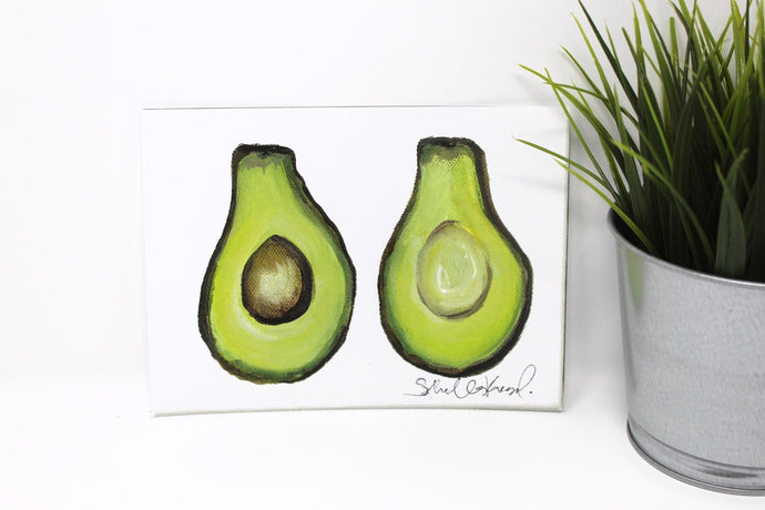 Avocado Art Print! 5x7in, Simple Design, Food Art