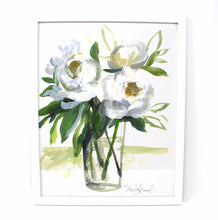 Load image into Gallery viewer, White Floral Art Print ,11x14 in, Simple Design, Floral Art, Home Decor, Flower Artwork