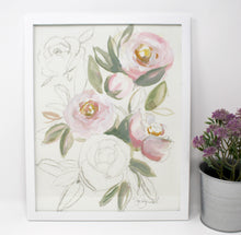 Load image into Gallery viewer, Blush Light Rose Art Print- 11x14in, Simple Design, Home Decor, Wall Art, Floral Artwork