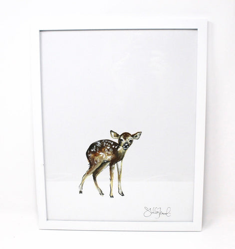 Baby Deer Art Print 11x14in, Animal Art, Baby Room, Nursery Wall Decor