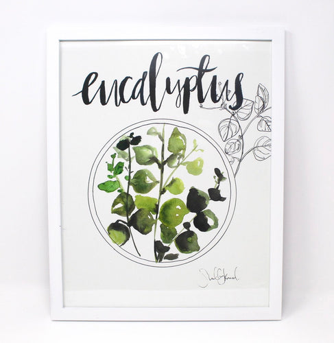 Eucalyptus Art Print, 11x14in, Simple Artwork, Home Decor, Wall Art, Nursery, Baby Decor