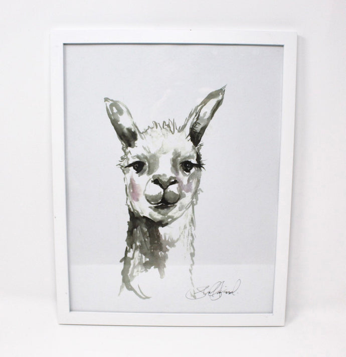 Llama Llama Art Print- 11x14, Animal Art, Home Decor, Farm Art, Wall Art