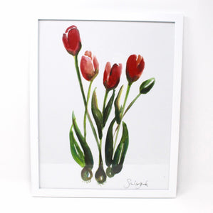 Tulips Art Print, 11x14, Home Decor, Simple Design, Wall Art