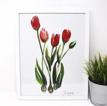 Load image into Gallery viewer, Tulips Art Print, 11x14, Home Decor, Simple Design, Wall Art