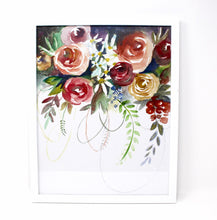 Load image into Gallery viewer, Fun Floral Art Print- 11x14 in, Watercolor painting, Simple Design, Home Decor