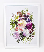 Load image into Gallery viewer, Gardener Floral Art Print, 11x14in, Floral Artwork, Home Decor, Flower Art
