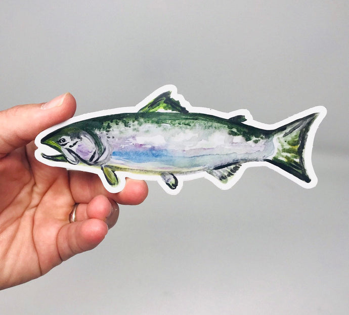 Fish Sticker/Decal (2.5inx3.5in) Weather Resistant, Durable Vinyl Sticker- Free Shipping!