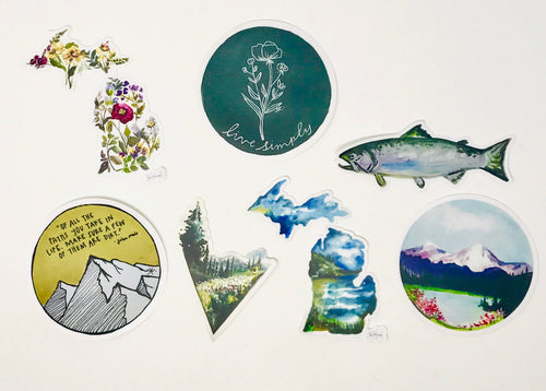 Set of three Stickers/Decals, Weather Resistant, Vinyl Stickers, Laptop, Car, Water bottle Stickers