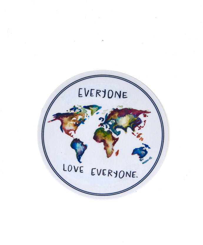 Everyone Love Everyone Sticker/Decal, Weather Resistant, Durable, Vinyl Sticker,