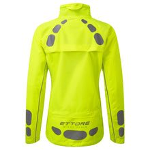 Load image into Gallery viewer, Ettore Night Eagle Ladies Waterproof Breathable High Visibility Yellow Cycling Jacket