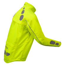 Load image into Gallery viewer, Ettore Night Eagle Mens Waterproof Breathable High Visibility Yellow Cycling Jacket