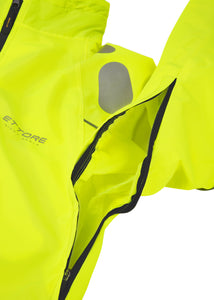 Ettore Night Eagle Mens Waterproof Breathable High Visibility Yellow Cycling Jacket