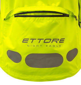 Ettore Night Eagle Ladies Waterproof Breathable High Visibility Yellow Cycling Jacket