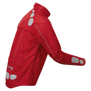 Ettore Night Eagle Mens Waterproof Breathable High Visibility Red Cycling Jacket