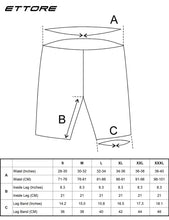 Load image into Gallery viewer, Ettore Arrow Mens Gel Padded Cycling Shorts Knee Length