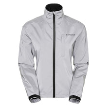 Load image into Gallery viewer, Ettore Night Glow Ladies Waterproof Breathable High Visibility Reflective Silver Cycling Jacket